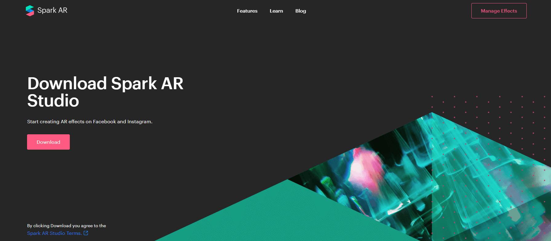 Сервис для создания масок Spark AR