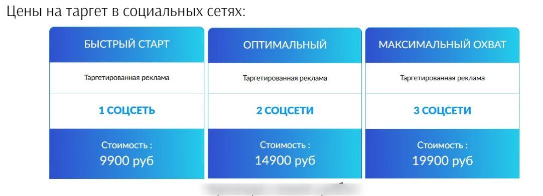 Тарифы агентства «Оптима-промо» Уральского региона