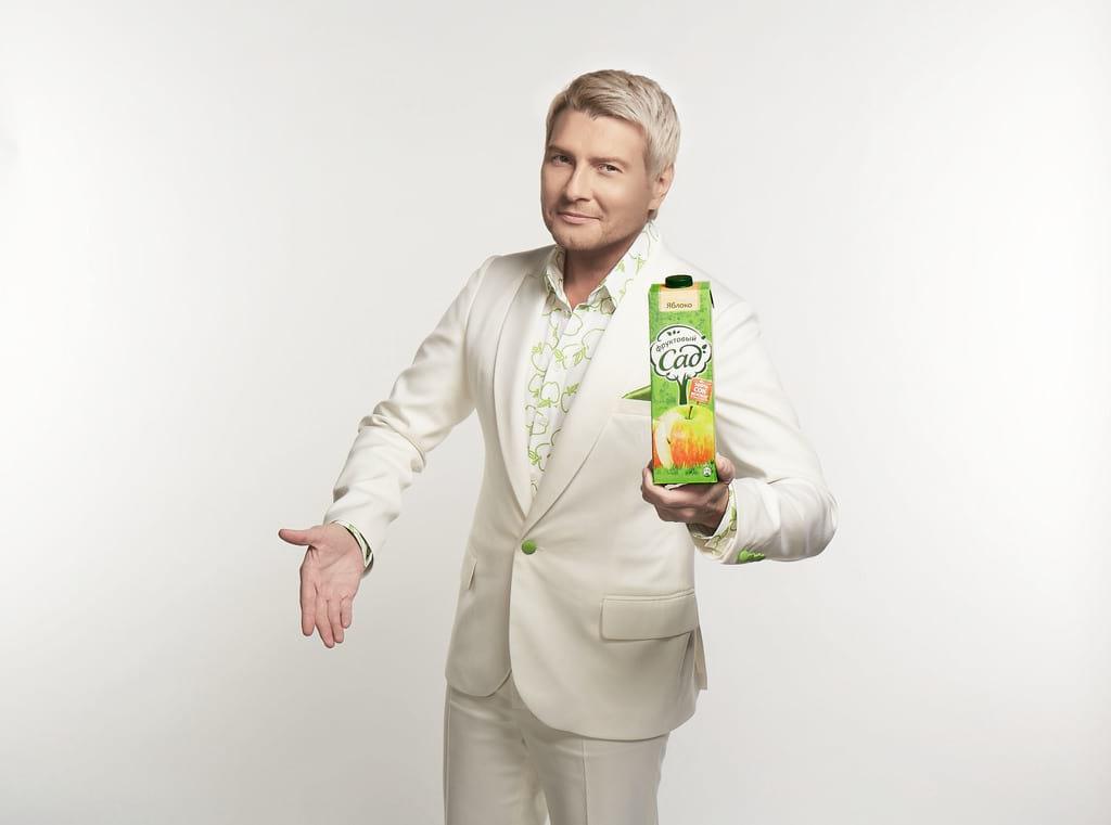 Николай Басков в рекламе «Фруктового сада»