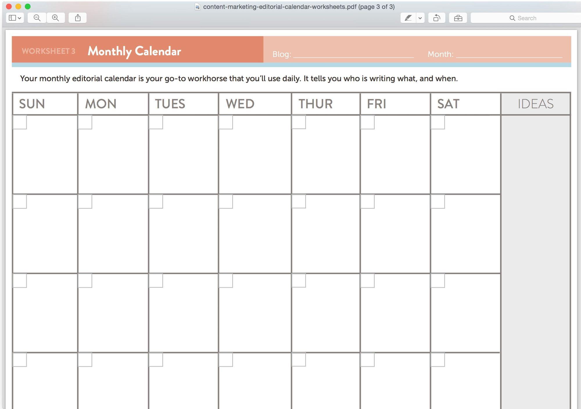 Можно скачать любой шаблон для календаря и использовать его как контент-план