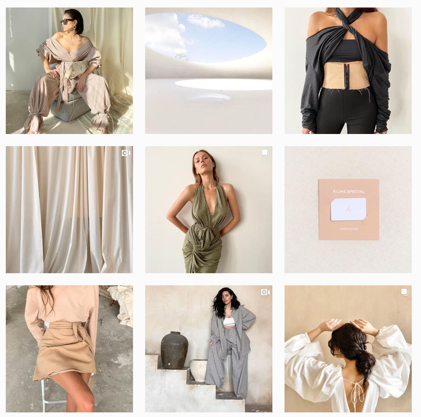 Пример ленты магазина одежды с летней коллекцией