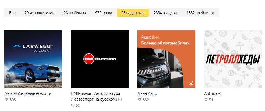 2354 выпуска подкастов про автомобили