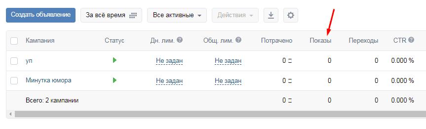 При анализе рекламной кампании во ВКонтакте можно примерно ориентироваться на показы, но помните, что охват будет всегда меньше