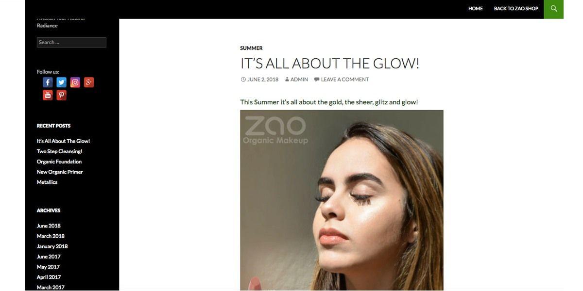 Статья о трендах этого лета в блоге американской компании Zao Organic Makeup