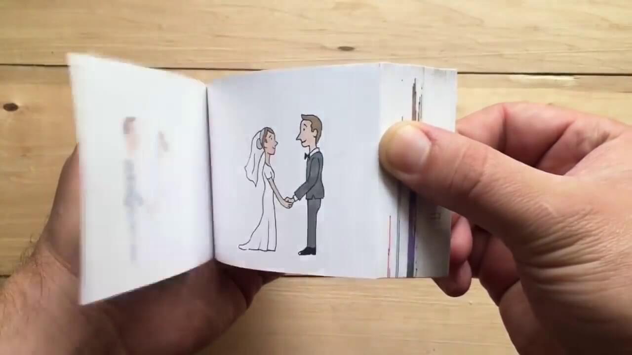 Похоже на создание движущихся картинок в блокнотах: на каждой страничке действие прорисовывается чуть иначе, и при быстром перелистывании кажется, что рисунок оживает