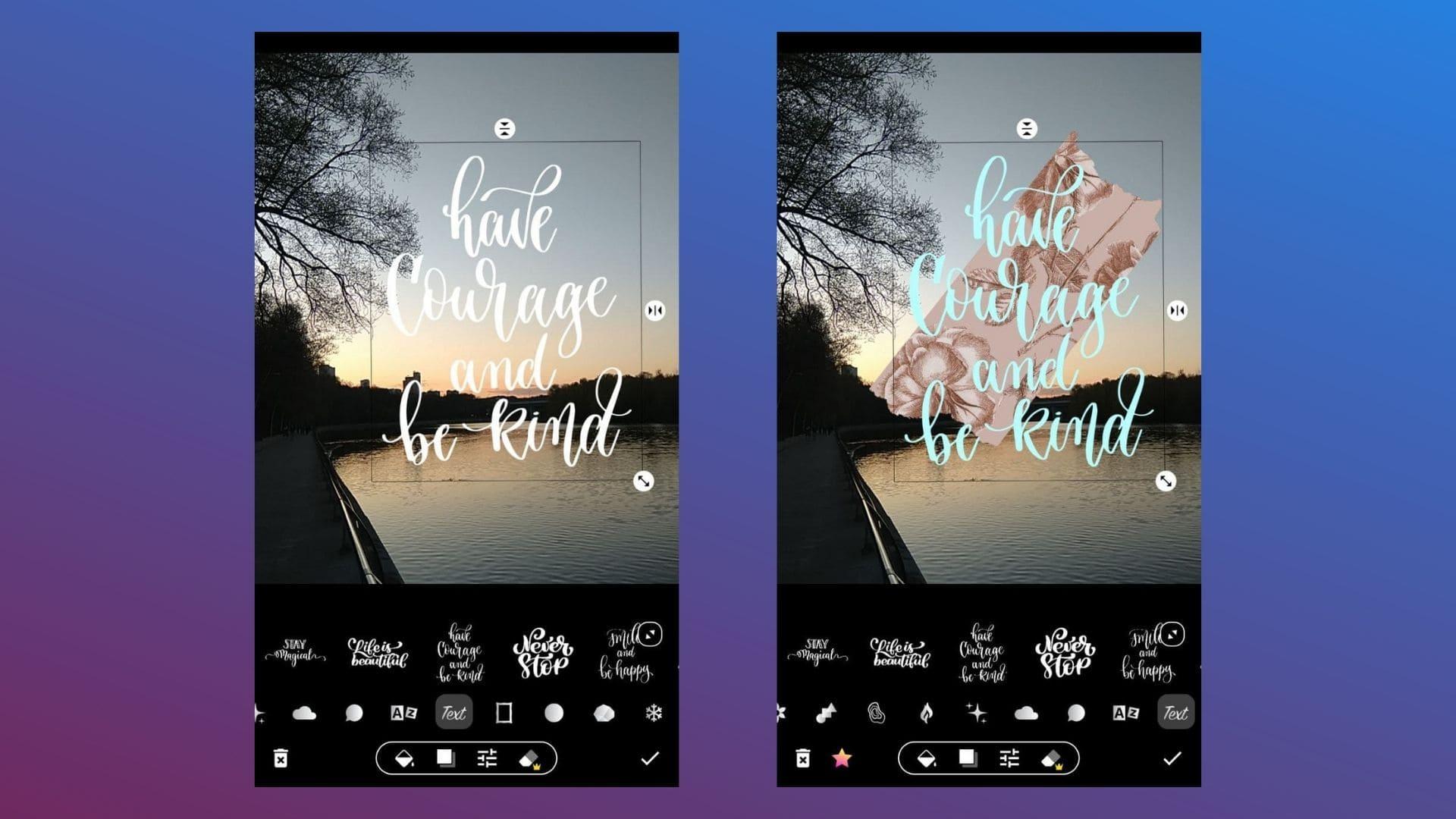 Приложение позволяет делать стильные обложки для постов