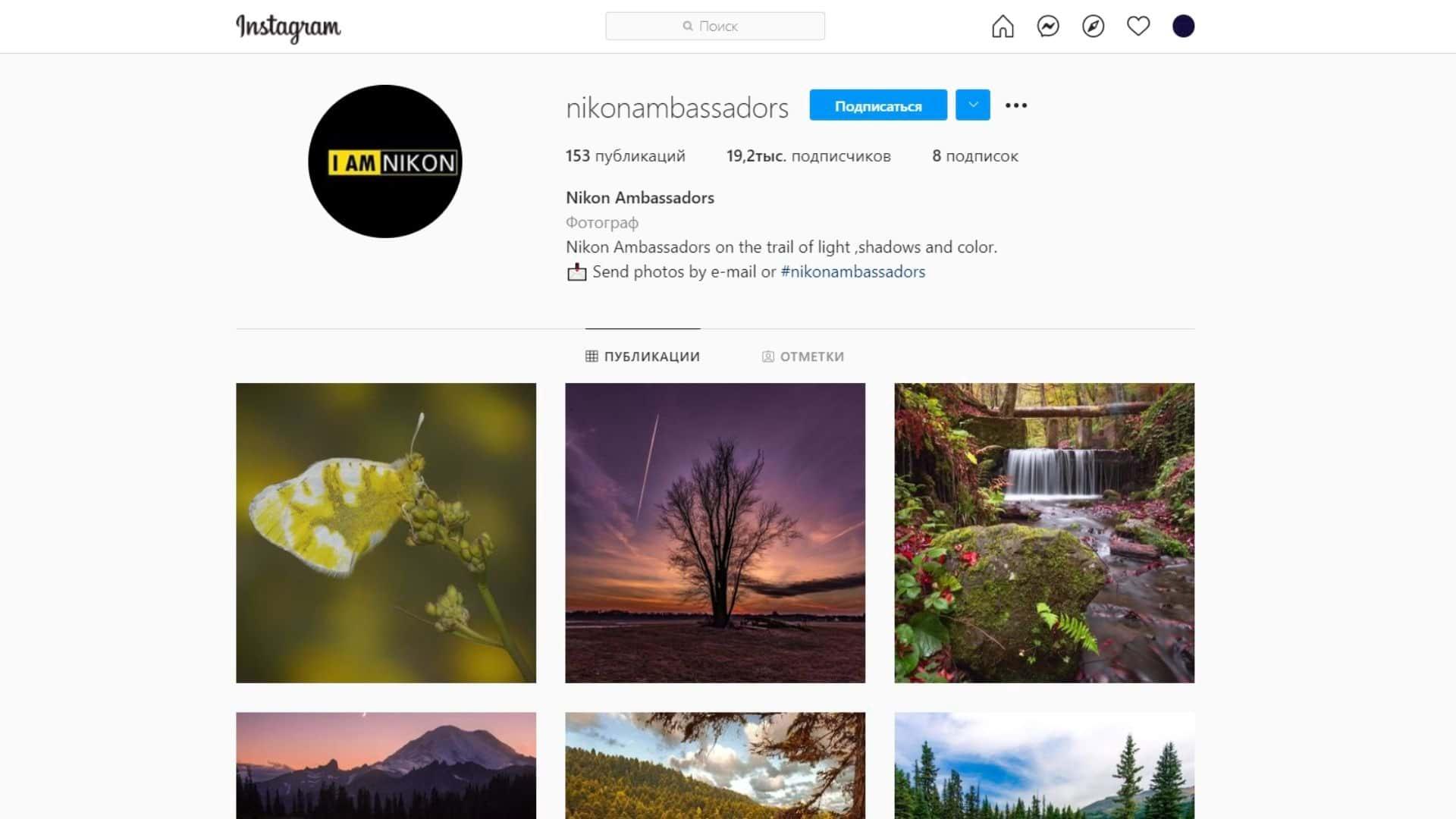 Здесь можно найти профессионалов, которые делают свои снимки на «Никон»