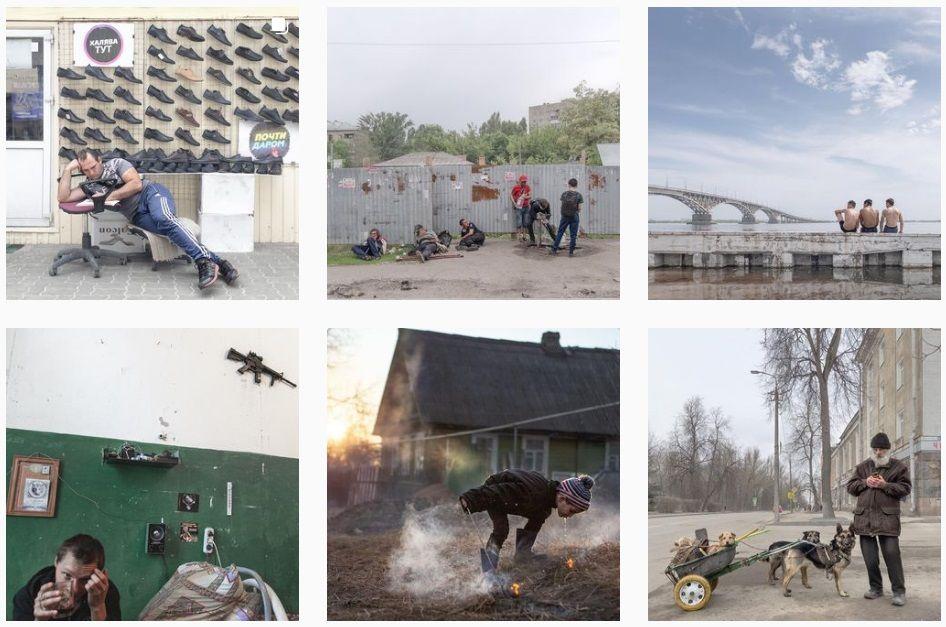 У фотохудожника Дмитрия Маркова, который делает колоритные фото российской глубинки на iPhone, в Инстаграме больше 800 тысяч подписчиков