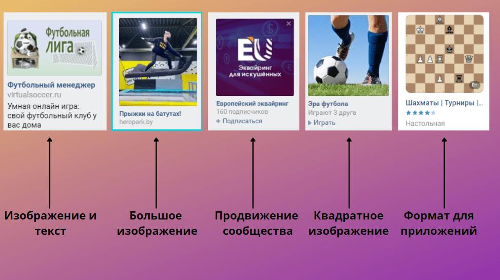 Пример рекламных креативов во ВКонтакте