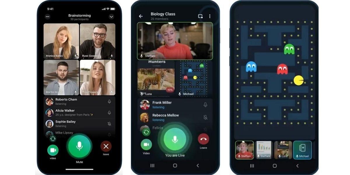 Обновленная версия Телеграм 8.0: нет ограничений на зрителей видеотрансляции и можно записать эфир