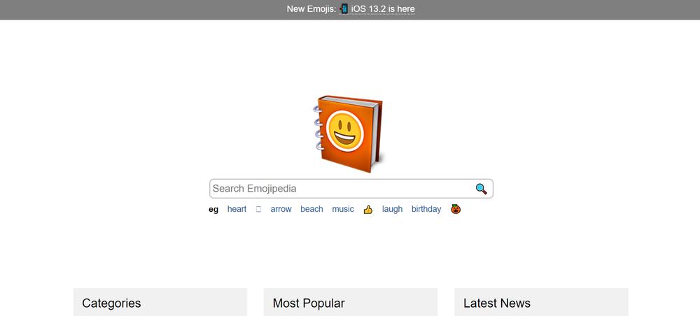 Сервис для работы c эмоджи Emojipedia