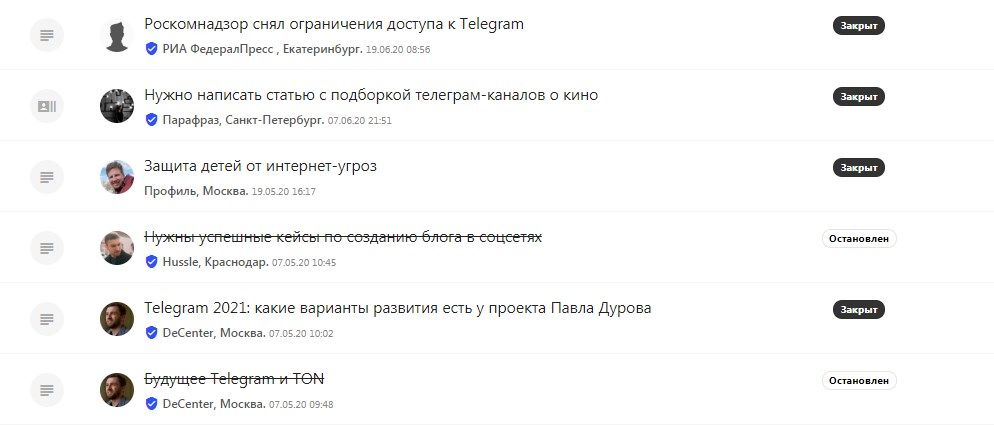 Посмотрите на историю запросов по тематике Telegram на Pressfeed